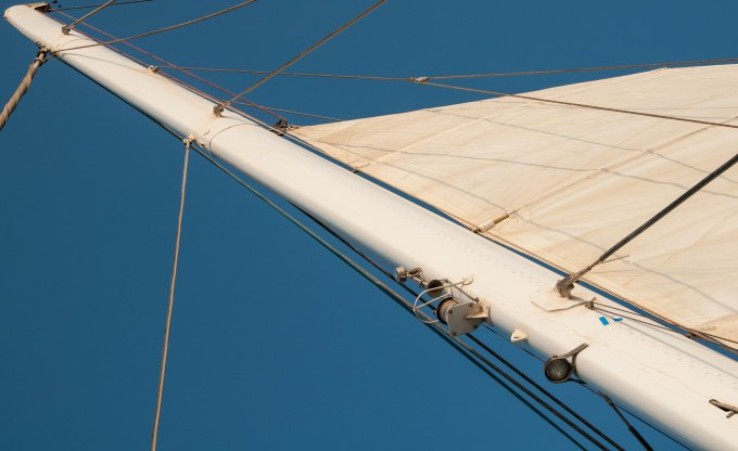 The mast of a catamaran