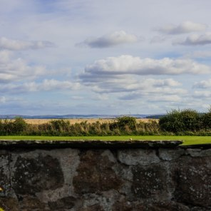 From Greywalls Hotel, a view across Muirfield Golf Course to the Firth of Forth and the Kingdom of Fife