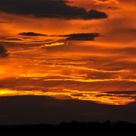 This sunset - in Beverley, Yorkshire - was all about the sinking sun reflecting off the bottom of the clouds. On this occasion, 2/3rds of the frame seemed the only sensible option.