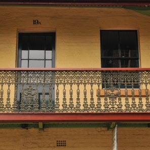 Plenty of squares and rectangles in this image of the upper floor of a traditional Sydney house.
